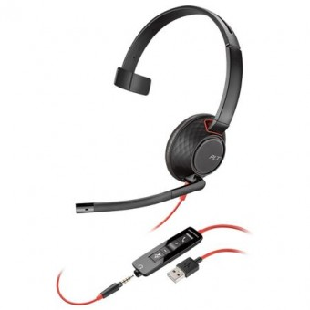 Casca Call Center Plantronics Blackwire 5210, C5210, USB-A, Jack 3.5 mm, Monoaural